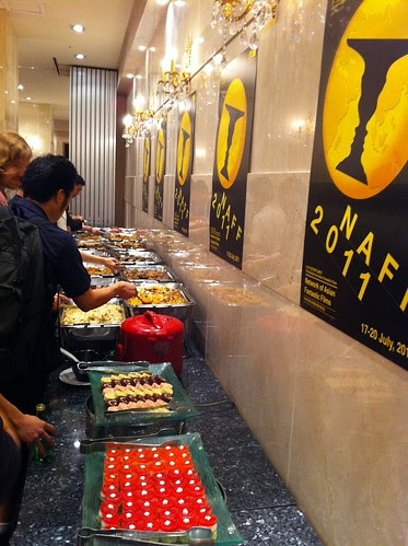 Yummy food at the NAFF opening ceremony