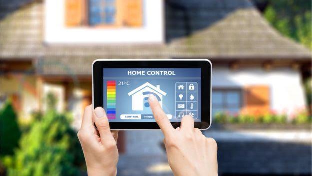 Remote home control system on digital tablet