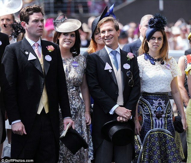 The news will undoubtedly be met with mixed feelings by Princess Beatrice, who split with her long-term love Dave Clark (second right) earlier this month