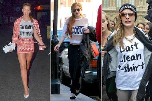 How to wear a phrase t-shirt: 4 ideas