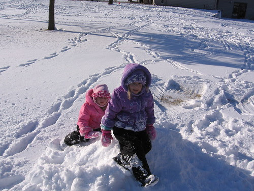 We LOVE playing in the snow!