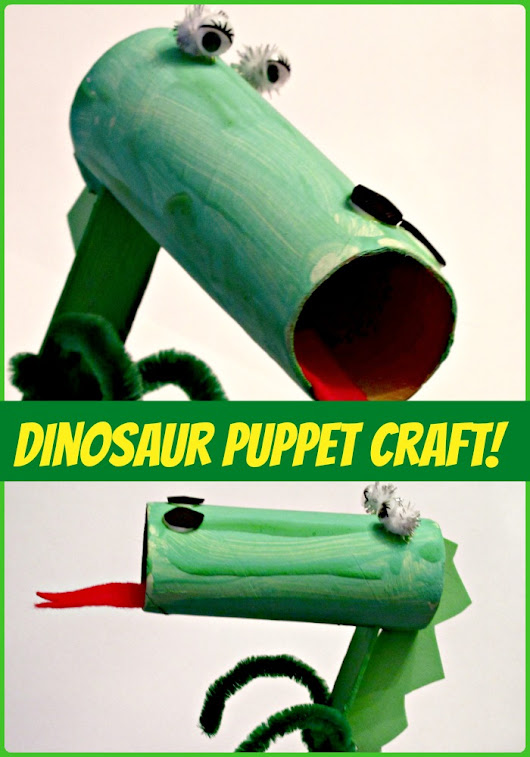 Crafts for Kids: Toilet Paper Roll Dinosaur Puppet