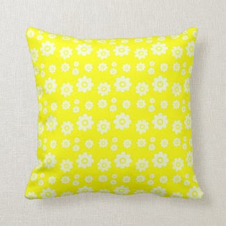 cheerful floral pillows