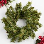 Artificial Canadian Pine Wreath, 5'' diameter, Green, Craft Supplies
