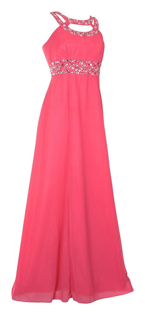 formal long ball gown party prom beaded bridesmaid evening