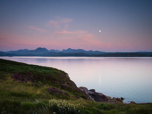 Moonrise over the Torridon Mountains II by chris_thomson_1274