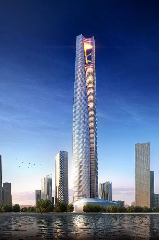 #8 Dalian Greenland Center — Dalian, Liaoning, China. Height (when completed): 1,699.48 feet