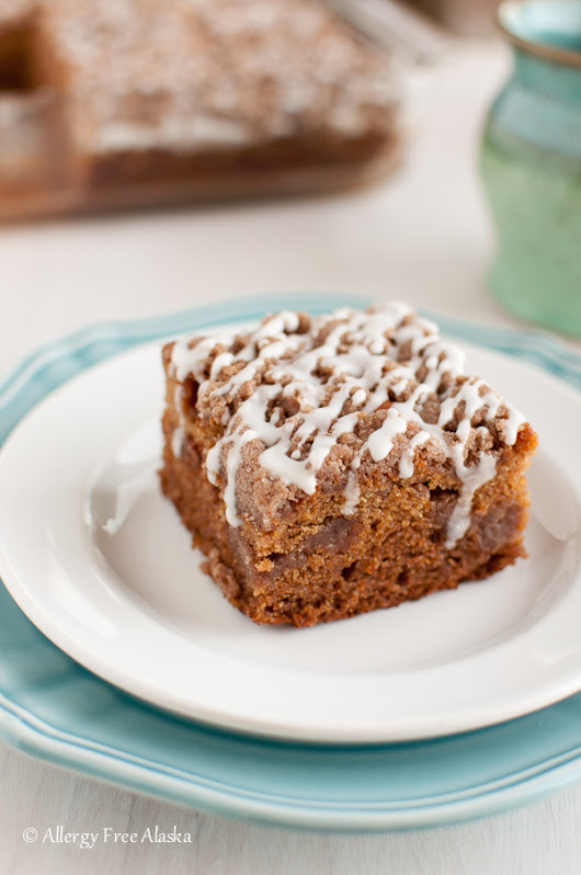 Gluten Free Cinnamon Streusel Coffee Cake - Allergy Free Alaska