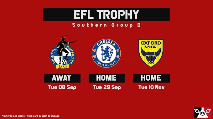 EFL Trophy: Walsall's 'Group D' Dates & Kick-Off Times Confirmed