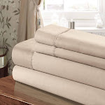Chic Home CST45-US 100 Percent Cotton Sheet Set Taupe - Twin