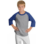Sport-Tek YT200 Youth Colorblock Raglan Jersey Sports Jersey Large Ryl Bl | The Deal Rack