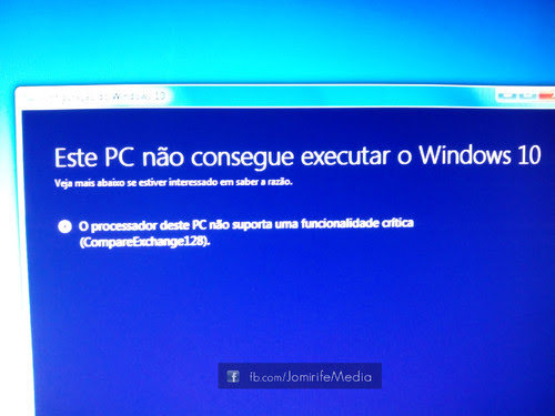 Erro CompareExchange128 do Windows10