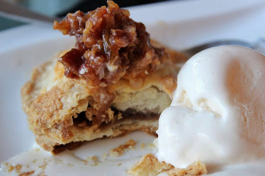 Apple Butter Tart a'la mode with Red-Eye Bacon Jam