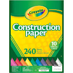 "Crayola Construction Paper Pack, 9"" x 12"" - 240 sheets"