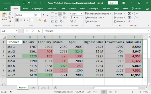 Apply Worksheet Changes to All Worksheets in Excel - TeachExcel.com