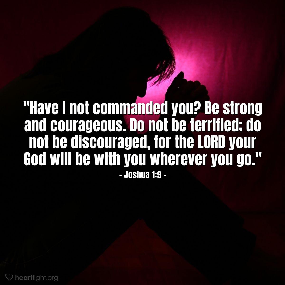 Illustration of Joshua 1:9