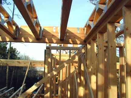 Doug Robinson House Framing Second Floor Joists And Subfloor