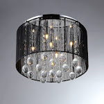 Warehouse Of Tiffany Chandelier Ceiling Lights -Black/Clear