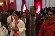 Jokowi Disambut Meriah oleh Para Siswa SD di JI Expo