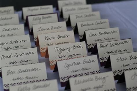 Creative Ways to Indicate Meal Choice on Escort Cards