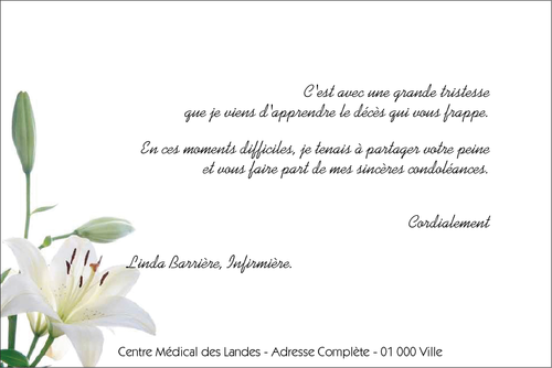 Exemple De Lettre De Condoléances Décès   Covering Letter Example