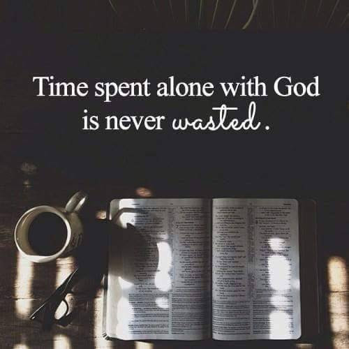 My faith...Christianity — Try to get alone time with God everyday and you'll...