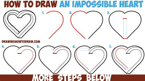 draw  impossible heart easy step  step
