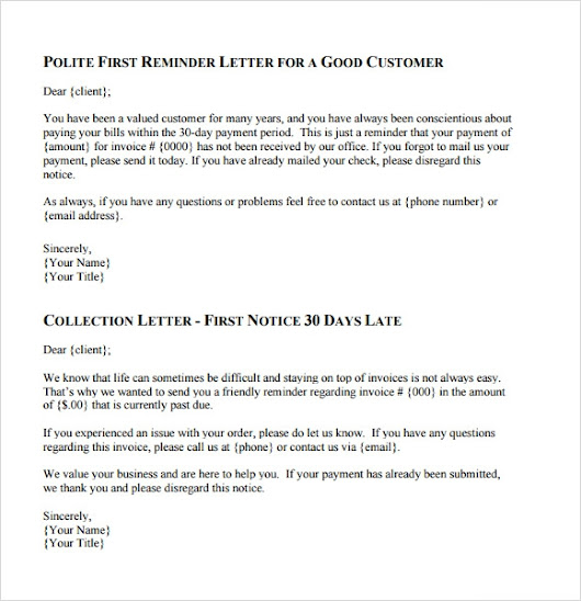 Collection Letter Template - 7+ Download Documents for PDF