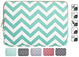 Laptop Sleeve, Mosiso Chevron Hot Blue Canvas Fabric 15-15.6 Inch Laptop / Notebook Computer / MacBook Air / MacBook Pro Sleeve Case Bag Cover (Internal Dimensions: 15.75 x 0.79 x 11.61 inches)