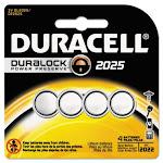 Duracell 2025 Coin Button Battery - Cr2025 - Lithium [li] - 3 V Dc - 1 Each (dl20254pk_40)