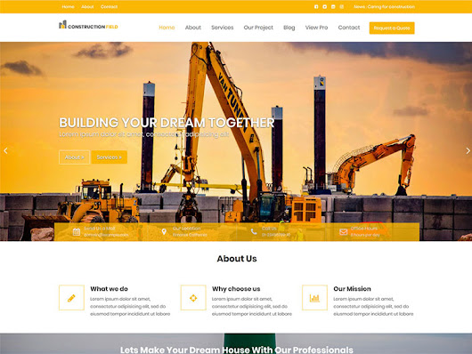 Construction Field - Impressive Construction & Real Estate WordPress Theme