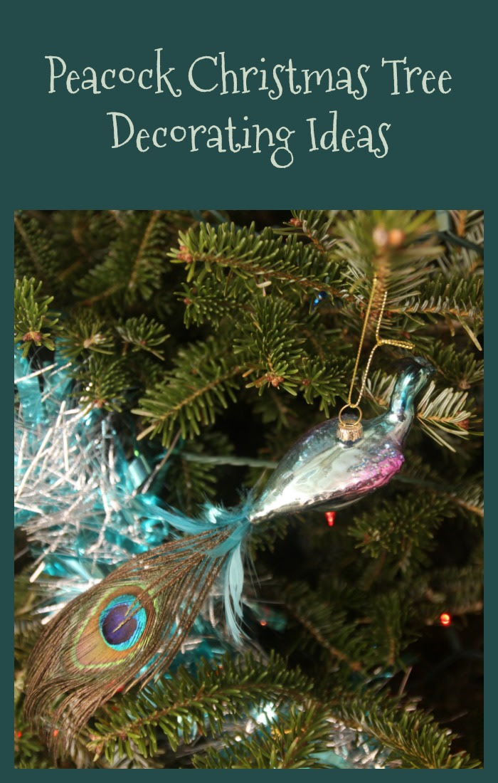 Peacock Christmas Tree Decorating Ideas The Big Red Bow