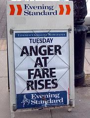 Anger at Fare Rises