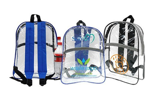 Clear School Backpacks Imprinted With Logo or Message