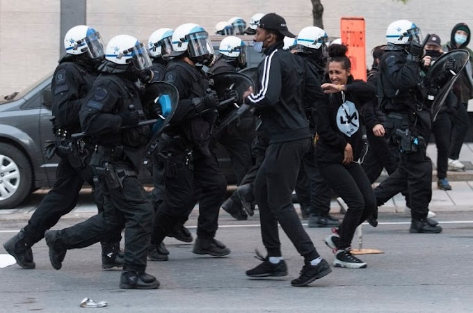 Anti-racism protest in downtown Montreal turns violent