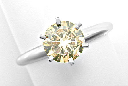 Foto 1, Top Einkaräter-Brillant-Solitär-Ring 1,13ct Luxus! Neu!, S8654