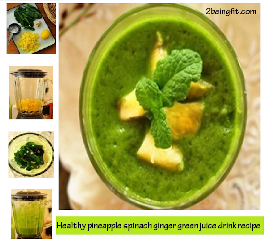 Healthy pineapple ginger vegetable green smoothie | weight loss recipe