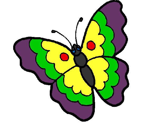 Dibujo De La Mariposa Colorida Pintado Por Davalos En Dibujosnet El