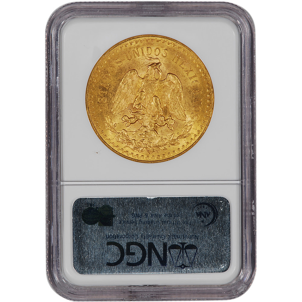 certified ngc ms64 these magnificent mexican 50 peso gold coins