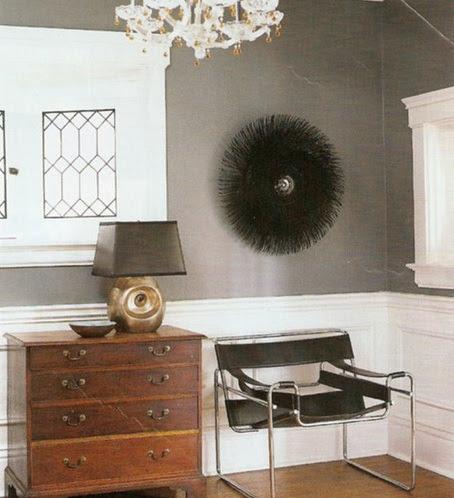 Gray Walls - Transitional - entrance/foyer - Benjamin Moore Smoke Gray