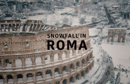 Drone Footage of Rare Snowfall in Rome - Unshootables
