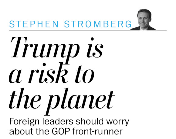 Trump is not just a risk to the country. He is also a risk to the planet.