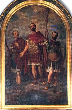 Saints Octave, Soluteur et Adventeur, Soldats et martyrs († 297)