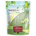 Organic Whole Green Peas, 4 Pounds - Dry, Kosher, Non-GMO, Raw, Sproutable, Vegan - by Food to Live