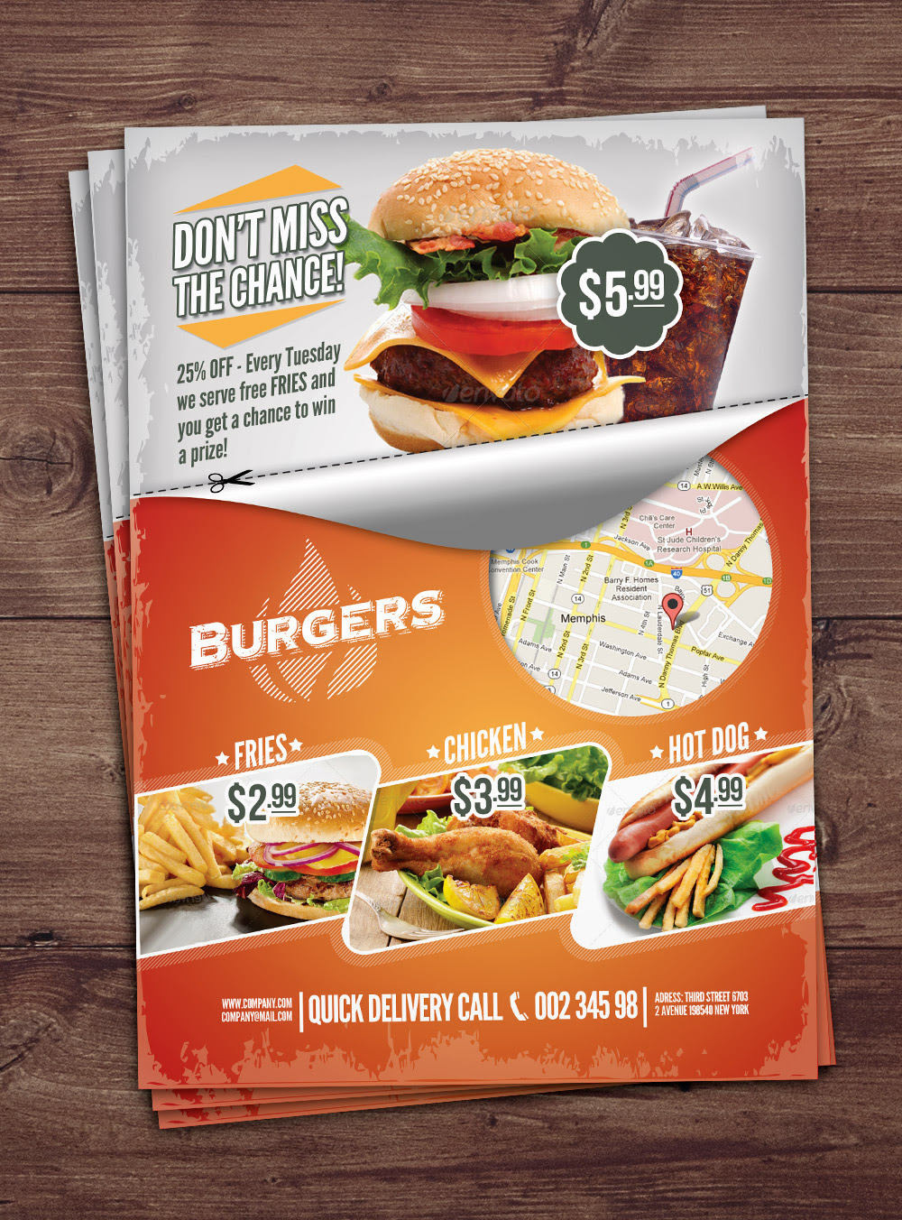 Fast Food Flyer by PuneDesign