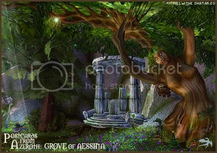 Postcards of Azeroth: Grove of Aessina, by Rioriel Ail'thera of theshatar.eu