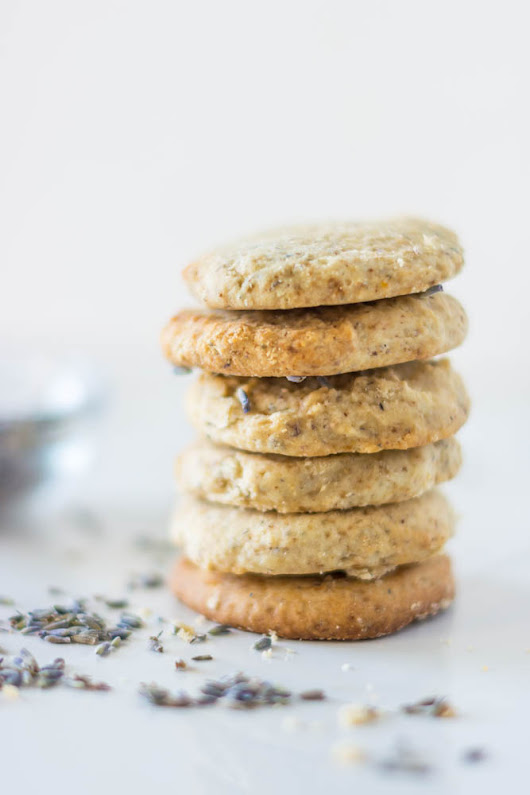 Fancy Lemon + Lavender Butter Cookies