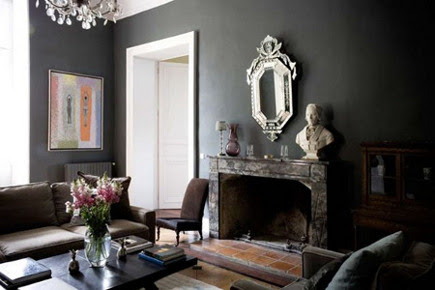 Dark Painted Walls | Atticmag | Kitchens, Bathrooms, Interior Design