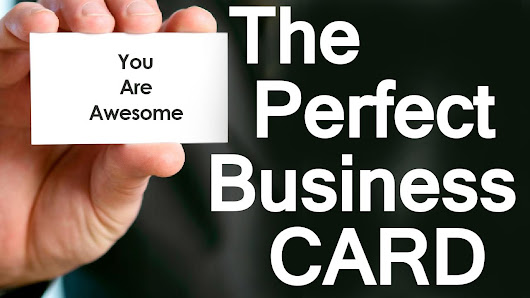 Tips To Design And Print The Perfect Business Card