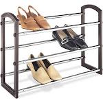 Whitmor 3-Tier Faux Leather Shoe Rack
